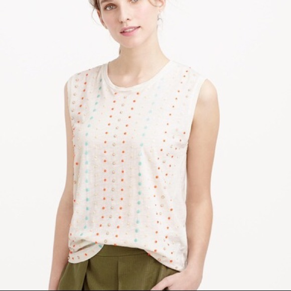 J Crew Stacked Sequin Shell